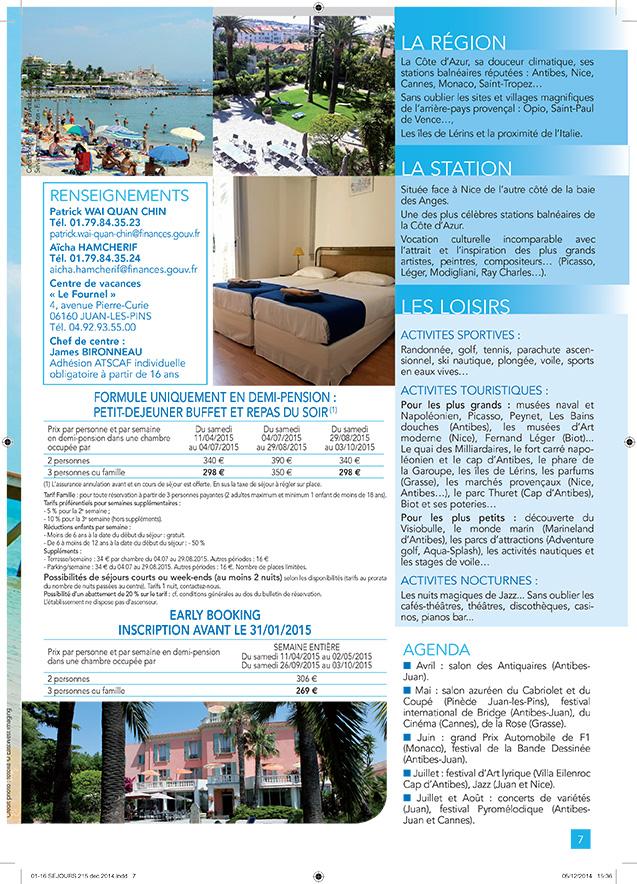 Catalogue Astcaf Séjours