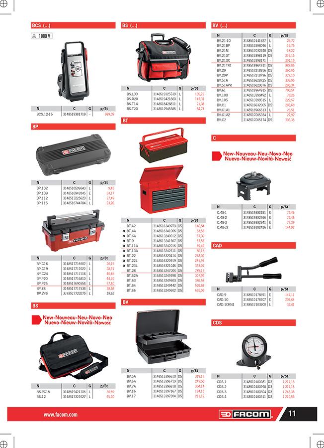 Catalogue Facom